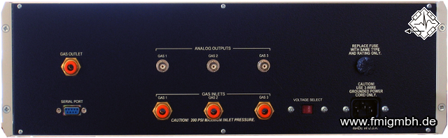 GSM-3 Programmable Gas Mixer (Back)